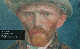 ICT - self portrait of Vincent Van Gogh