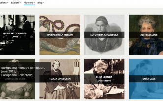 Quiz Women Pioneers - screenshot of the Europeana Pioneers exhibition