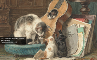 Europeana MOOC survey - The musicians - cats- musical instruments
