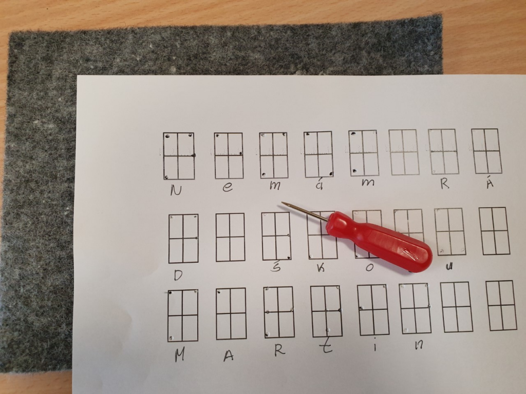Kit braille alphabet