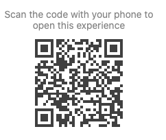 QR code created with Metaverse