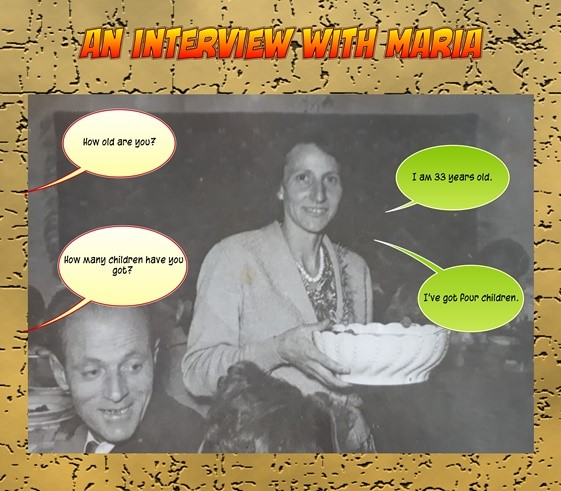 A photo of teacher's grandmother whom students had to interview