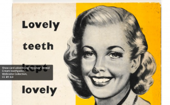 "Show card advertising ""Kolynos"" Dental Cream toothpaste"
