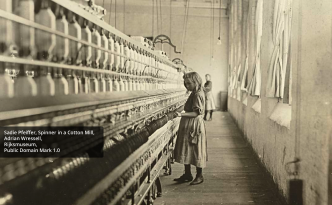 Sadie Pfeiffer, Spinner in a Cotton Mill