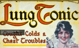 Showcard advertising Lung Tonic